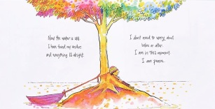 "from ""I Am Peace"", © Susan Verde, art by Peter H. Reynolds"