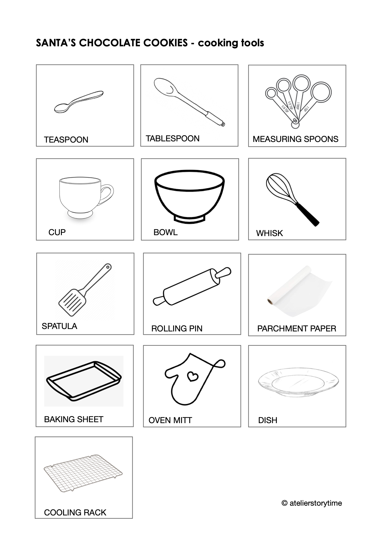 Cookies for Santa-cooking tools